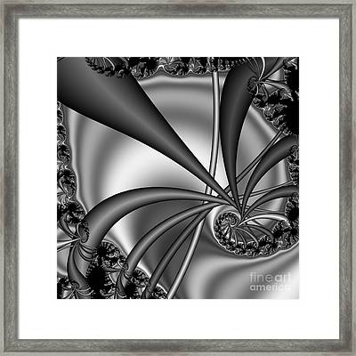Abstract 123 Bw Framed Print by Rolf Bertram