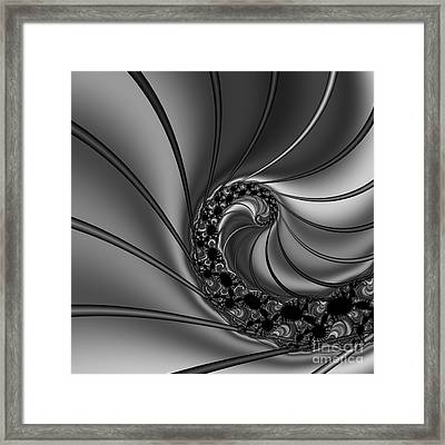 Abstract 125 Bw Framed Print by Rolf Bertram