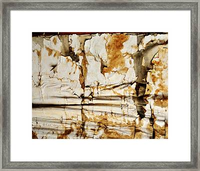 Framed Print featuring the photograph Abstract 1317 Old Wallpaper As Landscape by Kae Cheatham