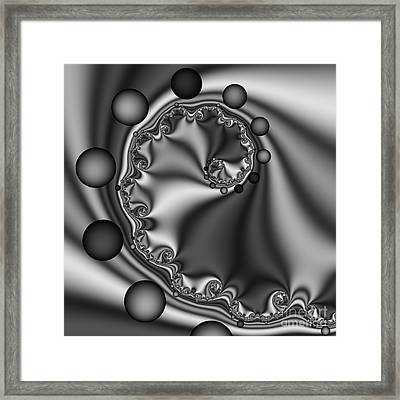 Abstract 149 Bw Framed Print by Rolf Bertram