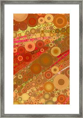 Abstract 1.5 - Gold Framed Print
