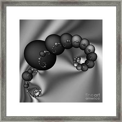 Abstract 155 Bw Framed Print by Rolf Bertram