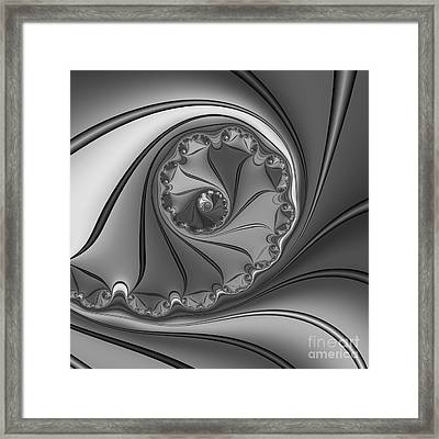 Abstract 156 Bw Framed Print by Rolf Bertram