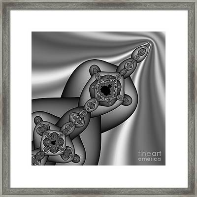 Abstract 160 Bw Framed Print by Rolf Bertram