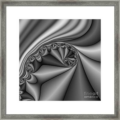 Abstract 168 Bw Framed Print by Rolf Bertram