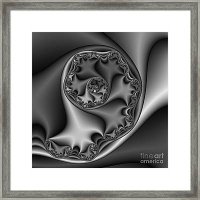 Abstract 169 Bw Framed Print by Rolf Bertram