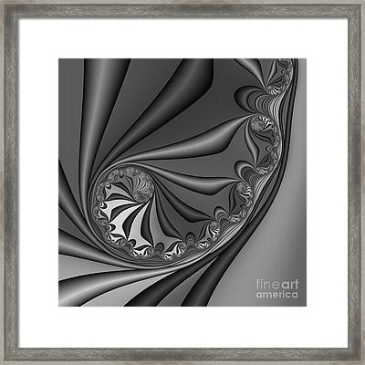 Abstract 209 Bw Framed Print by Rolf Bertram