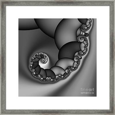 Abstract 210 Bw Framed Print by Rolf Bertram