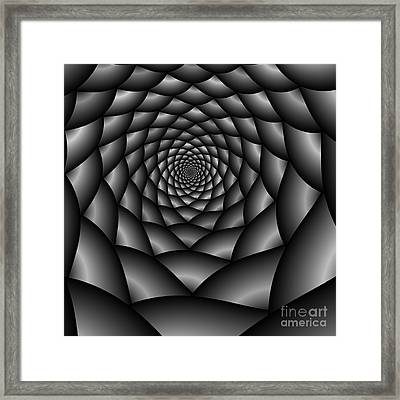 Abstract 219 Bw Framed Print by Rolf Bertram