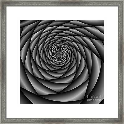 Abstract 220 Bw Framed Print by Rolf Bertram