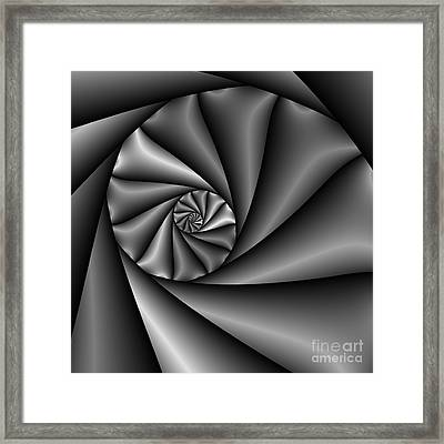 Abstract 222 Bw Framed Print by Rolf Bertram