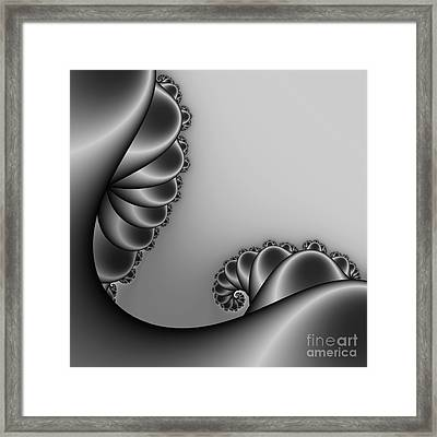 Abstract 226 Bw Framed Print by Rolf Bertram