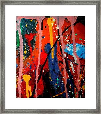 Abstract 3  Framed Print by John  Nolan