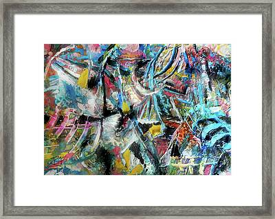 Abstract 301 - Encaustic Framed Print