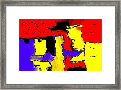 Abstract 4 Framed Print by Paulo Guimaraes