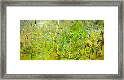 Abstract #42515b Or Marsh Life Framed Print