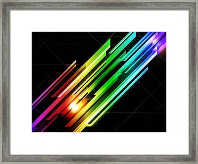 Abstract 45 Framed Print by Michael Tompsett