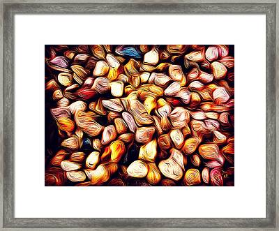 Abstract 46 Fool's Gold Framed Print