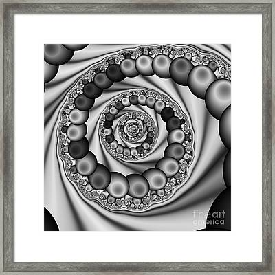 Abstract 507 Bw Framed Print by Rolf Bertram