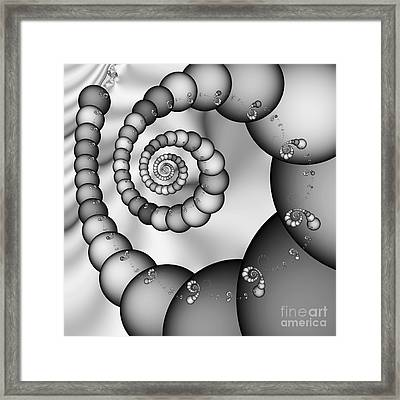 Abstract 521 Bw Framed Print by Rolf Bertram