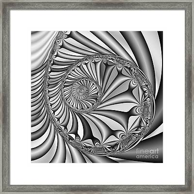Abstract 527 Bw Framed Print by Rolf Bertram