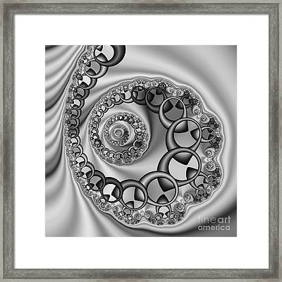 Abstract 528 Bw Framed Print by Rolf Bertram