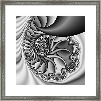 Abstract 529 Bw Framed Print by Rolf Bertram