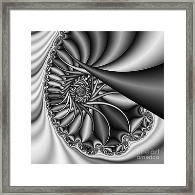 Abstract 530 Bw Framed Print by Rolf Bertram