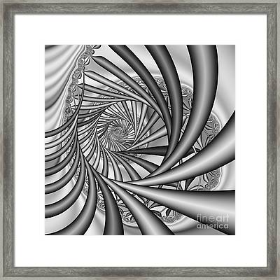 Abstract 532 Bw Framed Print by Rolf Bertram