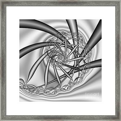 abstract 533 BW Framed Print by Rolf Bertram