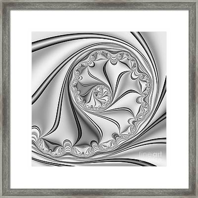 Abstract 534 Bw Framed Print by Rolf Bertram