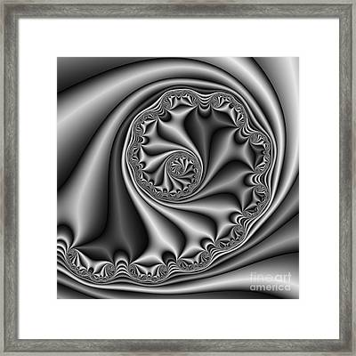 Abstract 536 Bw Framed Print by Rolf Bertram