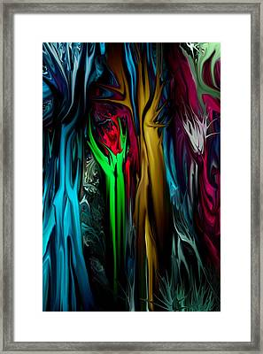Abstract 7-09-09 Framed Print by David Lane