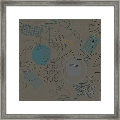 Abstract 8 Brown Framed Print