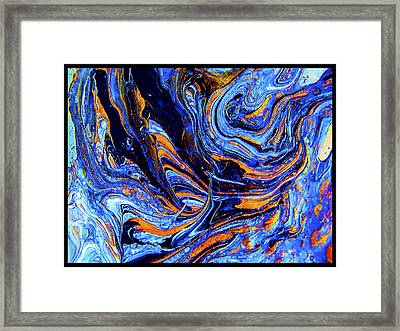 Life Flowing -abstract Acrylic Painting-mix Media #2 Framed Print