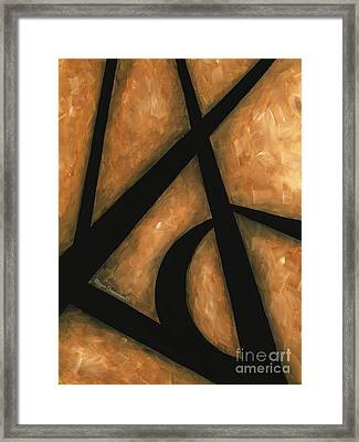 Abstract Acrylic Rust Tan Black Painting Gold Destiny Contemporary Original Painting By Madart Framed Print