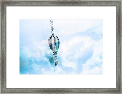 Abstract Air Baloon Hanging On Chain Framed Print by Jorgo Photography - Wall Art Gallery