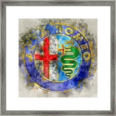 Abstract Alfa  Framed Print by Jon Neidert