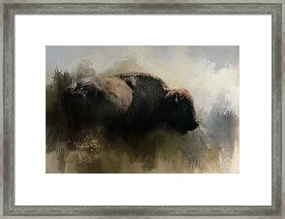 Abstract American Bison Framed Print