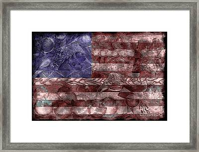 Abstract American Flag II Framed Print by J M Lister