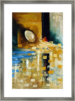 Abstract And A Pelican Egg Framed Print by Suzanne McKee