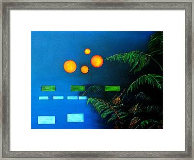 Abstract And Fern Floral Framed Print by Gregory Allen Page