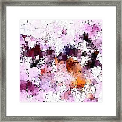 Abstract And Minimalist Art Made Of Geometric Shapes Framed Print by Ayse Deniz