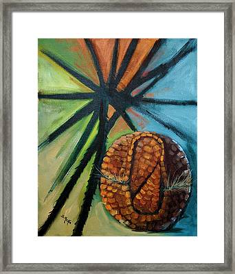 Abstract And The Armadillo Framed Print by Suzanne McKee