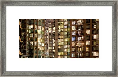 Abstract Apartment Buildings Framed Print