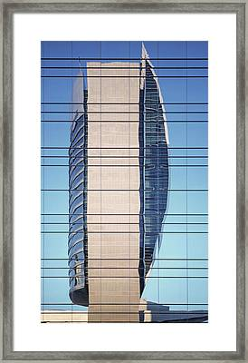 Abstract Architecture - National Bank Of Dubai Framed Print
