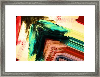 Abstract Arrow Framed Print by Jeff Swan