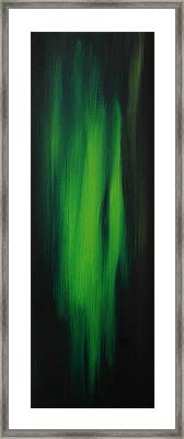 Abstract Art Colorful Original Painting Winter Passion - Green By Madart Framed Print by Megan Duncanson