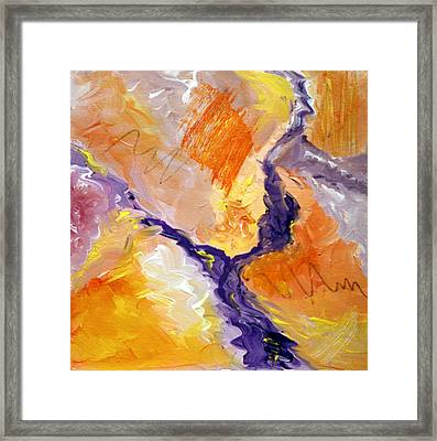 Abstract Art - Fire River Framed Print by Karyn Robinson