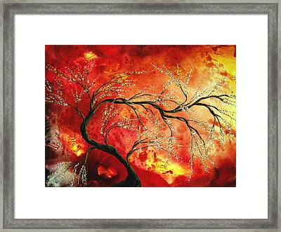 Abstract Art Floral Tree Landscape Painting Fresh Blossoms By Madart Framed Print